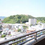 バルコニーより米子城跡が眺望できます