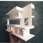 敷地に入る4LDK3階建てご参考プランの建物模型です。建物面積148.25㎡